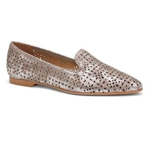 Trask • Perforated Leather Loafers / Pewter / 7.5